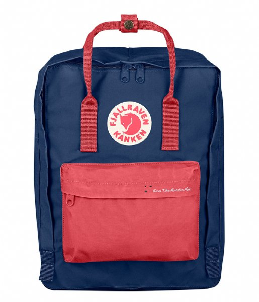 Kanken Save The Arctic Fox royal blue peach (540 319