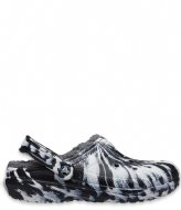 Crocs Classic Lined Marbled Clog White Black (103)